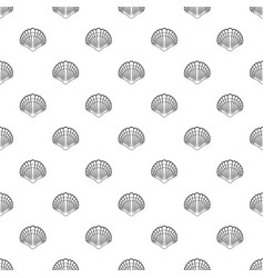 Big shell pattern seamless vector