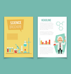 Brochure template with scientist and chemical vector