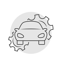 Car repair outline icon vector