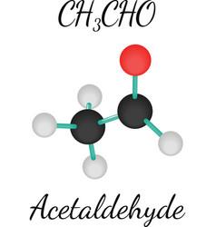 CH3CHO acetaldehyde molecule vector image