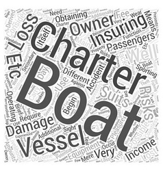 Charter boats and insurance Word Cloud Concept vector image