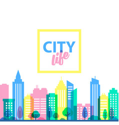 city landscape template flat style vector image