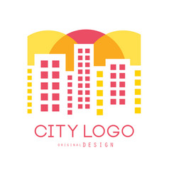 city logo original design modern real estate and vector image