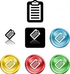Clipboard icon symbol vector