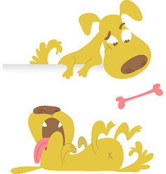 Collection cartoon dogs vector image