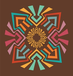 Color arrow mandala vector