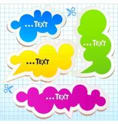 colorful bubbles for speech vector image vector image