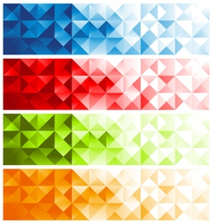 Colorful Mosaic Banners vector
