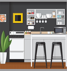 Cool modern kitchens vector