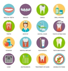 Dental Care Icons Set vector image