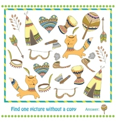Educational Game for Children - find vector