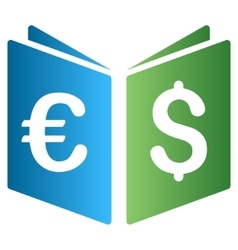Euro Dollar Record Book Gradient Icon vector