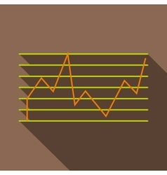 Financial statistics icon flat style vector
