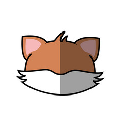 Fox faceless cartoon vector