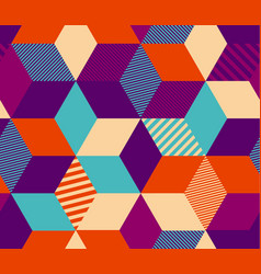 Geometry color hexagon seamless pattern vector