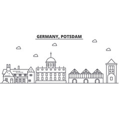 germany potsdam architecture line skyline vector image
