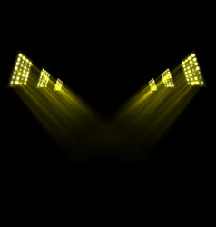 gold stage lights background vector image