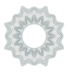 Guilloche decorative element for design certificat vector image