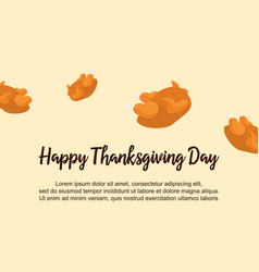 Happy thanksgiving day celebration background vector
