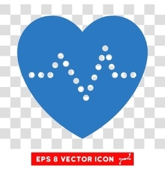 Heart Pulse Eps Icon vector image