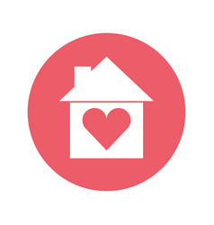 house silhouette with heart vector image