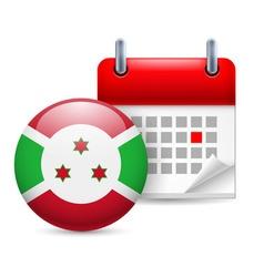 Icon of national day in burundi vector