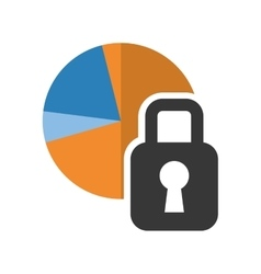 Infographic cake and padlock design vector