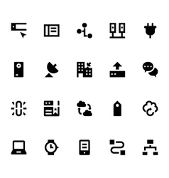 Internet Networking and Communication Icons 6 vector