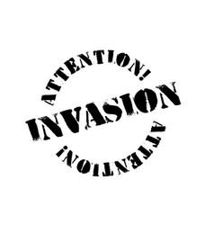 Invasion typographic stamp vector