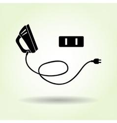 Iron icon electric American plug Electric vector image