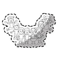 Isolated kids cartoons design vector