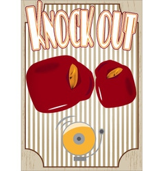 Knock out boxing poster vector image