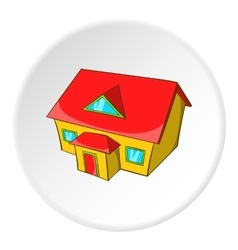 Large house with attic icon cartoon style vector