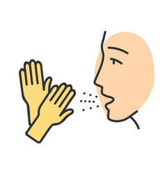 Latex allergy color icon vector