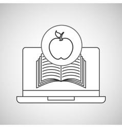 learn online book apple design vector image