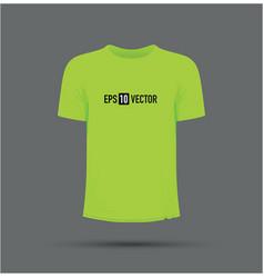 Lime green t-shirt vector