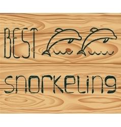 Logo best snorkeling vector