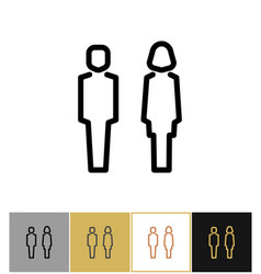 Man and woman icon boy and girls bathroom symbols vector