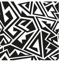 monochrome geometric pattern vector image