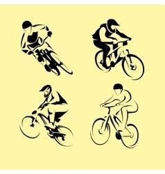 Mountain Bicycle set vector image