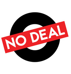 no deal caution stamp vector image