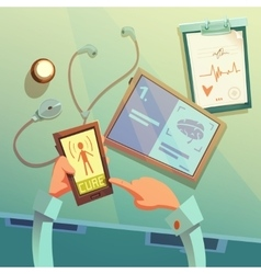 Online medical help background vector