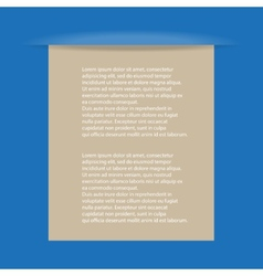 paper with blue background vector image