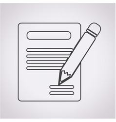 pencil icon and notebook icon vector image