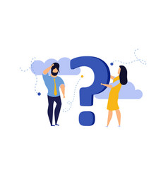 Person people question mark answer concept action vector