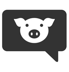 Pig message flat icon vector
