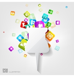 Pin icon Application buttonSocial mediaCloud vector image