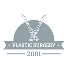Plastic surgery logo gray monochrome style vector