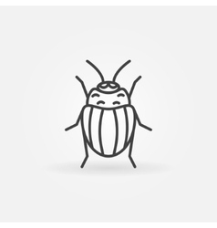 Potato or Colorado bug logo vector