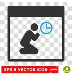 Pray Clock Calendar Page Eps Icon vector image